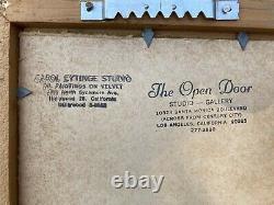 Pair of Vintage Velvet Paintings Eytinge Los Angeles Framed Mid Century Mouse