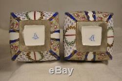 Paire Vases Porcelaine Ancien Sevres Antique Signed Porcelain Vases