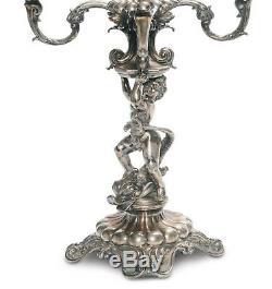 Paire candelabres antiques argent. Signés 1809. Fabuleux