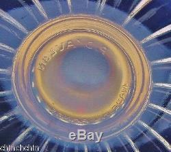 RARE Opulent PIERRE D'AVESN Deco Glass CANDLESTICK PAIR Girre OPALESCENT Signed