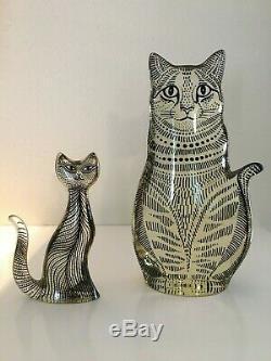 Rare 1970's Abraham Palatnik Signed Lucite Cats Pair