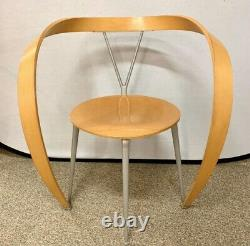 Signed Cassina Italy Andrea Branzi Revers Dining Chairs Pair Mid Century Modern
