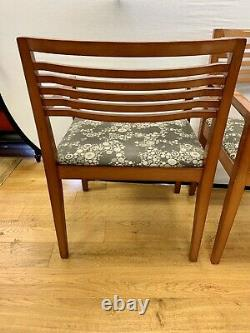 Signed Knoll Dining Chairs With Herman Miller Fabric One Pair
