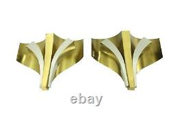 Signed Pair Of Modern Mid Century Sconces Wall Lamps By Maison Baguès 1960s