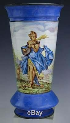Stunning 1875 Pair Signed Montereau Lm&c French Porcelain Vases Falence! Bin