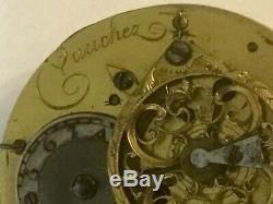 Vauchez, a Pairs, c. 1780 fusee, Dial signed by Lepine Horloger DuRoy, A Paris