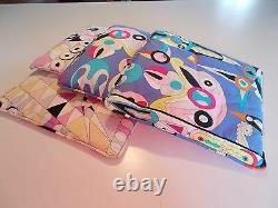 Vintage Emilio Pucci Signed Modernist Pillow Pair. Statement Designer Pillows