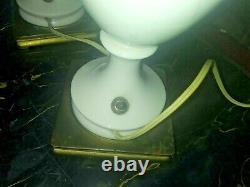 Vintage Pair Porcelain Signed DAV RT NY Boudoir/Mantle Lamps 1930'S 40'S